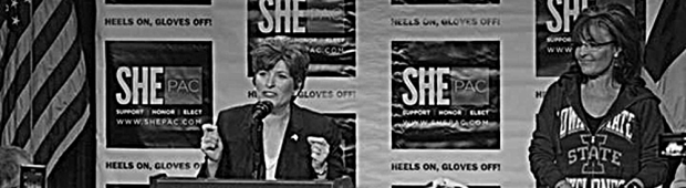 Joni Ernst and Sarah Palin push misogyny as an Iowa value.