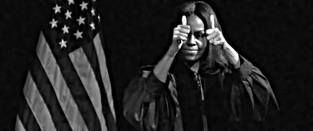 Michelle Obama addresses the graduating class at King College Prep High School in Chicago on Tuesday, 10 June 2015. (Photo: Christian K Lee/Associated Press)