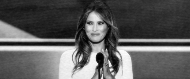Melania Trump delivers a speech at the Republican National Convention in Cleveland, Ohio, 18 July 2016. (Photo: Alex Wong/Getty Images)