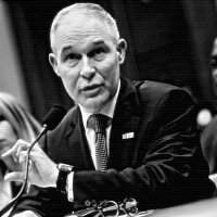 Environmental Protection Agency Administrator Scott Pruitt speaks during a hearing of the House Energy and Commerce Subcommittee on Environment, on Capitol Hill, 26 April 2018, in Washington D.C. (Photo: Brendan Smialowski/AFP/Getty Images)